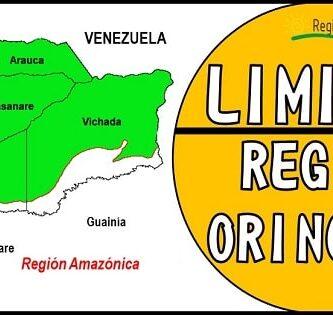 cuales son los limites de la region orinoquia