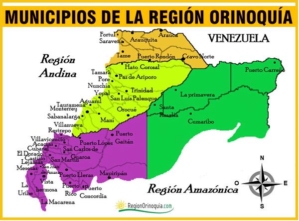 mapa de los municipios de la region orioquia