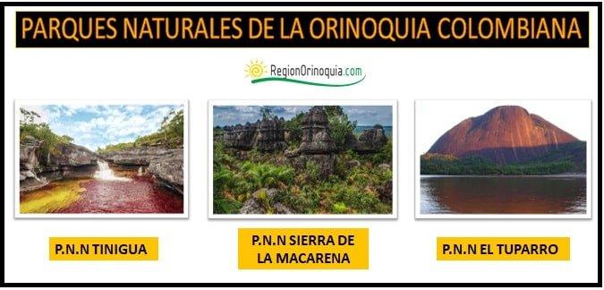 Parques nacionales naturales de la region Orinoquia